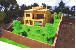 Casa de nueva construcción con vistas a la montaña