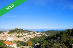 Plot with sea views for sale in Begur