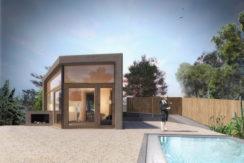 Nueva construcción de una casa moderna cerca de Sa Riera.