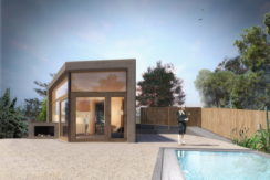 New construction of a modern house near Sa Riera.