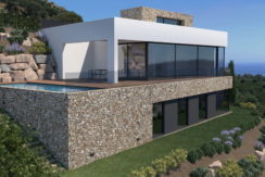 1224- Construction project on plot in Mas Mató, sea views.