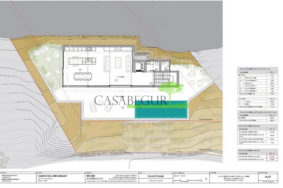 1305- Spectacular building land in Aiguablava